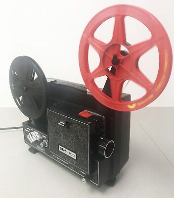 DUO 100 DUAL SUPER 8 &  standard 8mm Dual Format CINE MOVIE FILM PROJECTOR