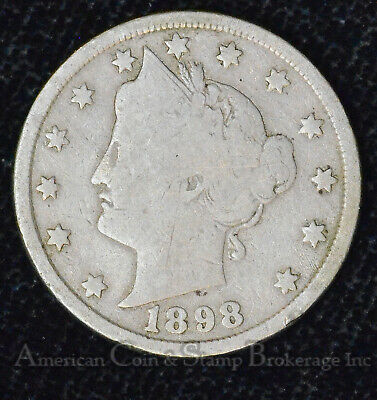 5c Nickel Five Cents 1898 Liberty Head V Nickel 5 Five Cents