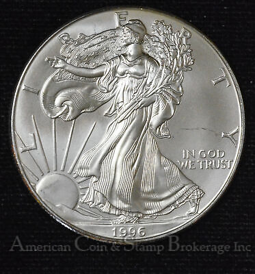 $1 One Dollar 1996 Silver Eagle American SE 1oz .999 Key Date Rare Low Mintage