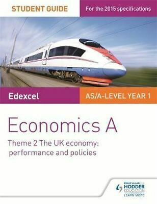 NEW Edexcel Economics A Student Guide By Rachel Cole Paperback Free Shipping