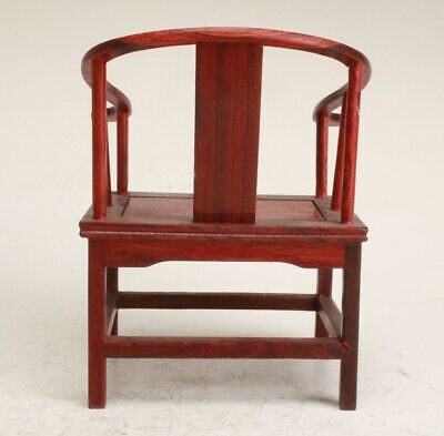 Chinese Wood Handmade Carving Chair Statue Decoration Collection