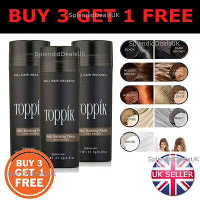 TOPPIK Hair Building Fibers 27.5g - Buy 3 Get 1 Free - CHEAPEST ON EBAY UK