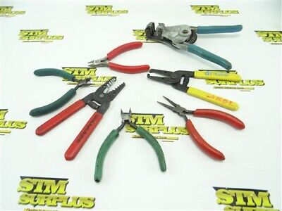 7Pc Lot Of Wire Strippers Pliers & Snips +++ Snap On T-Cutter Ideal