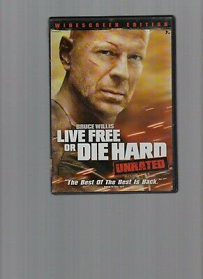 LIVE FREE DIE HARD - Bruce Willis thriller (DVD) Unrated edition