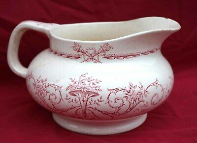 LONGCHAMP French Transferware Faience Roses Vanity Water Pitcher