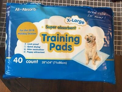 "All-Absorb X-Large Super Absorbent Training Pads for Dogs 28"" x 34"" Puppies"
