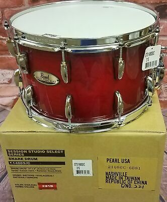 Pearl Session Studio Select Antique Crimson Burst 14x8 Snare Drum - NEW!