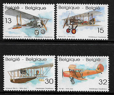 Belgium #1539-42 Mint Never Hinged Set - Airplanes