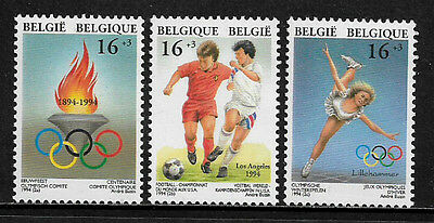 Belgium #B1111-3 Mint Never Hinged Set - World Cup Soccer - Olympics