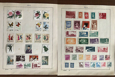 Asia China Old Stamps Collection 16 Pages Dr Sun Taiwan Japan Persia Perse !!