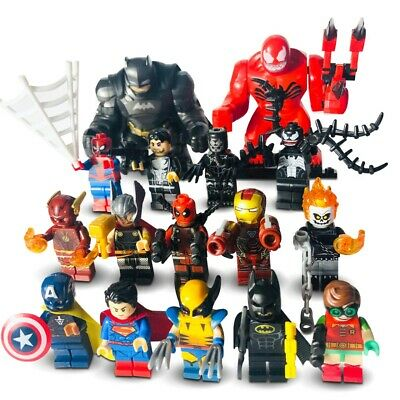 Custom Lego Minifigures Bundle Uk Marvel Super Heroes Mini-Figs - Mini Figures