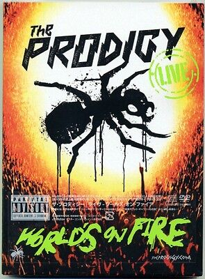 THE PRODIGY-LIVE WORLDS ON FIRE-JAPAN CD DVD K81 zd