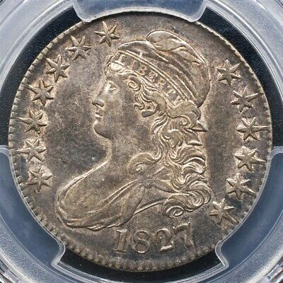 1827 Capped Bust Half Dollar Overton O-143 - PCGS AU53 -Sq. Base 2-CAC Certified