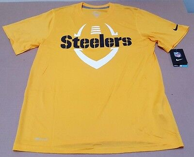 68e1041d1 PITTSBURGH STEELERS FOOTBALL ICON NFL Nike DRI FIT Men s T-Shirt ...