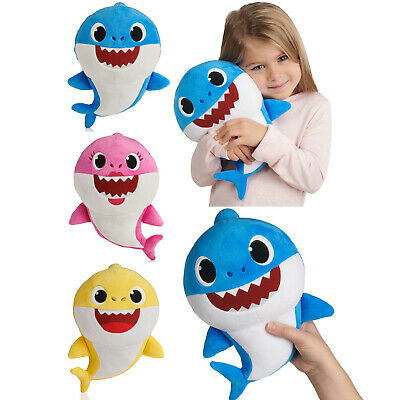 Pinkfong Baby Shark Soft Plush Doll Toy Daddy Mommy Baby Shark Sing Song