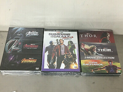 Marvel THOR 3-Movie  Avengers 123 Guardians of the Galaxy 2 movie Collection DVD