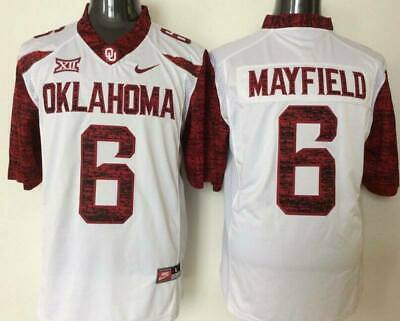 6e4c9880a NEW Baker Mayfield  6 Oklahoma Sooners Football Jersey White