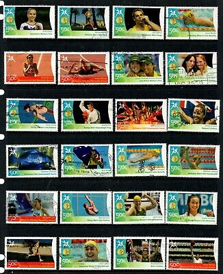 Australia - 62 different 2006 Commonwealth Games Gold Medals fine used (37D)