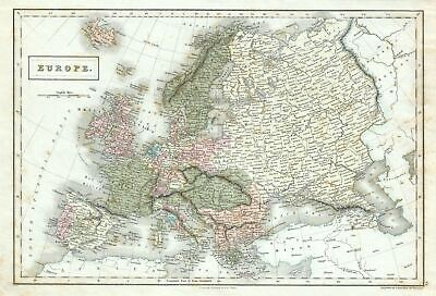 1851 Black Map of Europe