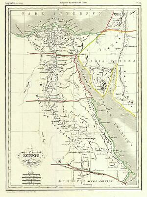 1837 Malte-Brun Map of Ancient Egypt, Nubia, and Abyssinia (Ethiopia)
