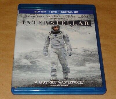 INTERSTELLAR Blu ray + DVD + Special Features 3 Disc Set Clean Shape / Film Cell