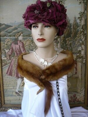 Antique Vintage Ladies Art Deco Double Sable Fur Pelt Collar Stole
