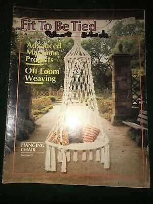 macrame pattern book - FIT TO BE TIED - plant hangers & knot instructions etc...
