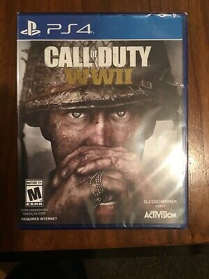 🔥Call of Duty WWII PS4 PlayStation 4 Brand New Factory Sealed COD World War 2🔥