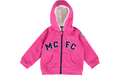 Manchester City Full Zip Hoodie Pink Age 12-18 Months rrp £20 DH081 UU 17