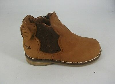 NEXT Girls Tan Leather Ankle Boots UK 8 EU 25.5 JS182 RR 05