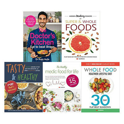 Energy Plan 5 Books Collection Set Doctors Kitchen,Whole Food Healthier New PB