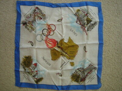 1956 Melbourne Olympic Games Silk Handkerchief Superb condition collectible