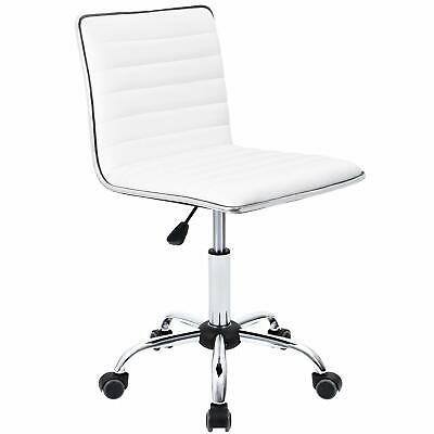 New Mid Back Task Chair,Low Back Leather Swivel Office Desk Chair,Computer Chair