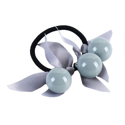 Girls Sweet Leopard Ball Bow Hair Tie Band Rope Ring Ponytail Holder Rope CB