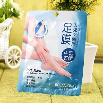 1 Pair Milk Bamboo Vinegar Remove Dead Skin Foot Skin Smooth Mask  N♡
