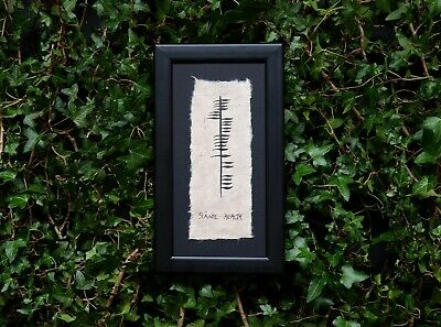 Slainte - An Irish Blessing in Ogham Ancient Irish Writing Frame