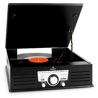 Tocadiscos Usb Sd Equipo Vinilo Digital Reproductor Grabador Mp3 Radio -B-Stock