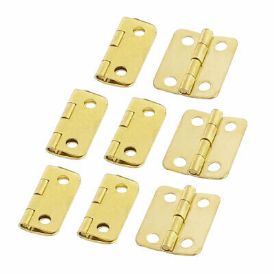 Door Jewelry Box Case Rectangle Folding Butt Hinge Gold Tone 16mmx13mm 8pcs