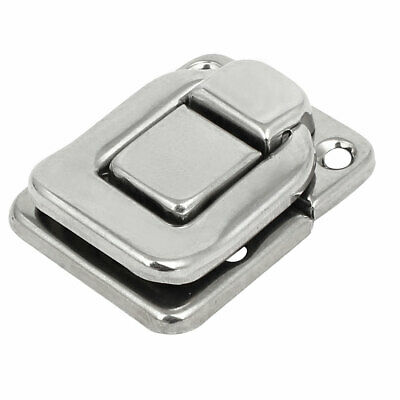 Toolbox Jewelry Box Case Rectangle Shape Latch Hasp Lock Silver Tone 38x29x8mm