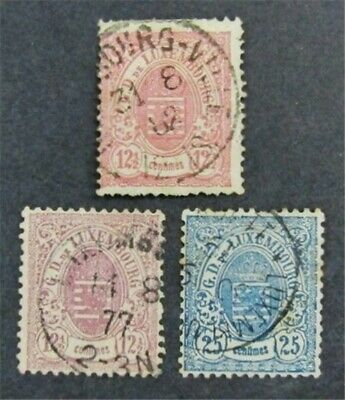 nystamps Luxembourg Stamp # 34-36 Used $82