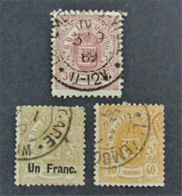 nystamps Luxembourg Stamp # 38//47 Used $73