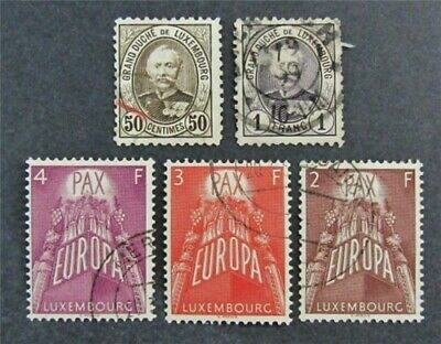 nystamps Luxembourg Stamp # 66//331 Used $30