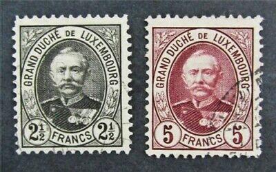 nystamps Luxembourg Stamp # 68.69 Used $105