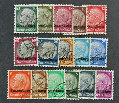 nystamps Luxembourg Stamp # N1//N16 Used $30