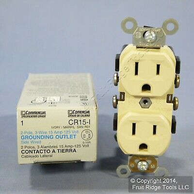 10 NEW LEVITON Ivory Residential Duplex Receptacle Outlets 5