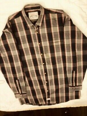 Levis Strauss Classic Collection MT Long Sleeve Plaid Shirt 100% Cotton Tall