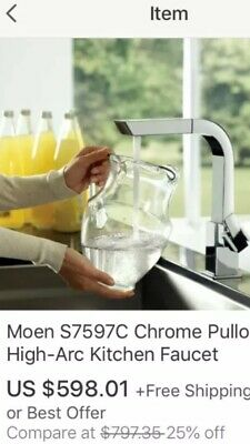 MOEN S7597C 90-DEGREE One-Handle High-Arc Pullout Kitchen ...