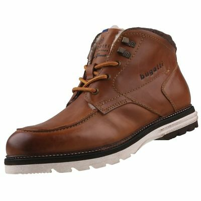 2f1ed4b41bc40 MEN'S NEW BUGATTI Leather Ankle Boots Lace Up Winter Shoes - £49.99 ...