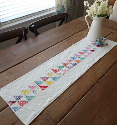 Prints Charming! Vintage c1930s Flying Geese FARMHOUSE Table QUILT RUNNER