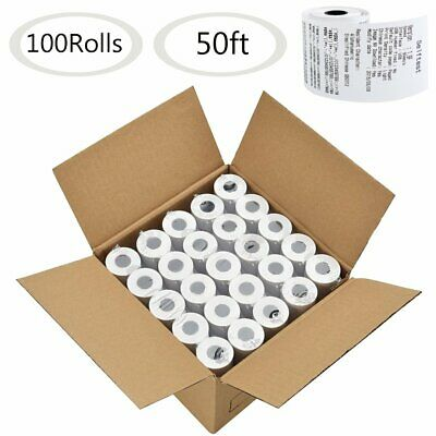 """100 Rolls 2 1/4""""x50' Thermal Paper Cash Register POS Thermal Receipt Paper Tape"""